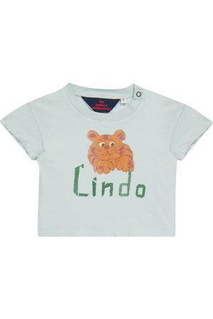 The Animals Observatory Baby Rooster printed cotton-jersey T-shirt