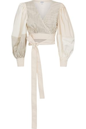 Loewe Puff sleeve wrap top