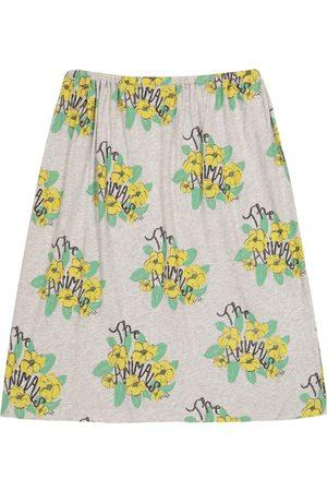 The Animals Observatory Ladybug floral cotton-jersey skirt