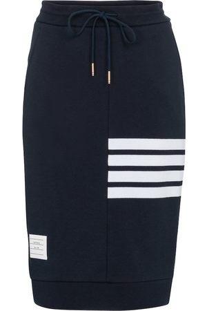 Thom Browne High-rise cotton-jersey midi skirt