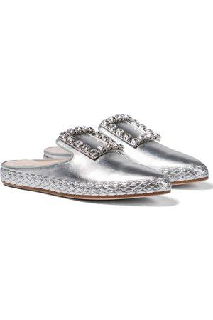 Roger Vivier RV Lounge metallic leather slippers