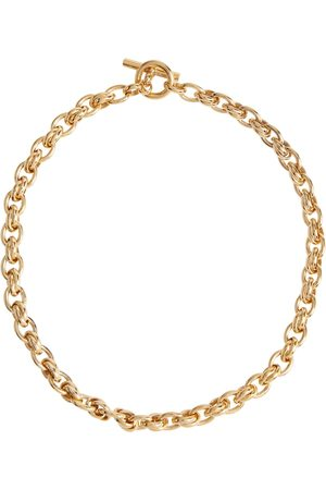 Tilly Sveaas Small Double Link 18kt gold-plated necklace