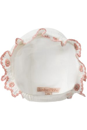 Louise Misha Tishaya embroidered cotton bonnet