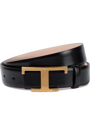 Tod's Kobieta Paski - Timeless T reversible leather belt