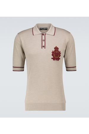 Dolce & Gabbana Silk short-sleeved polo shirt