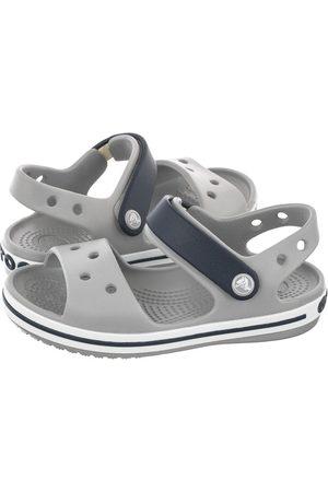 Crocs Sandały - Sandałki Crocband Sandal Kids Light Grey/Navy 12856-01U (CR39-t)