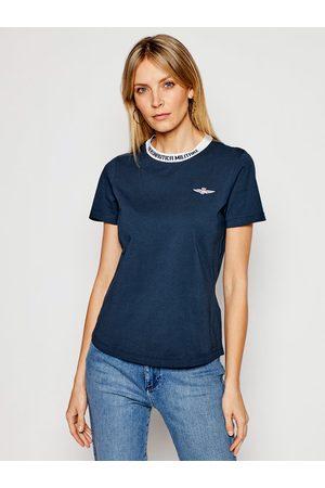 Aeronautica Militare T-Shirt 211TS1877DJ359 Granatowy Regular Fit