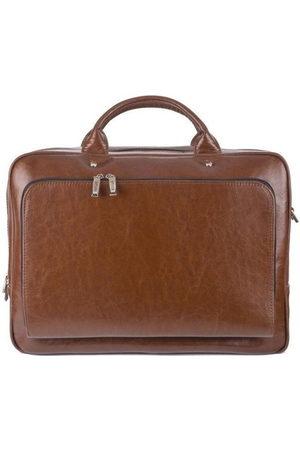 Solier Mężczyzna Torby na laptopa i teczki - Skórzana torba męska na ramię, torba na laptop vintage