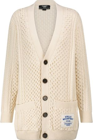 Stella McCartney Cotton-blend Aran cardigan