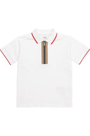 Burberry Kids Chłopiec Koszulki polo - Icon Stripe cotton piqué polo shirt
