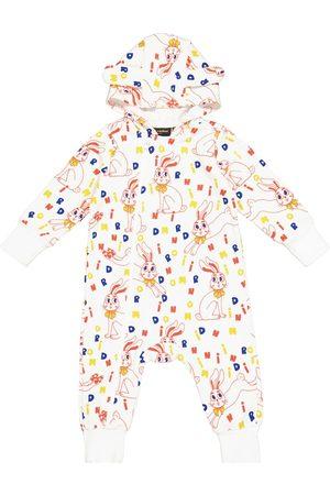 Mini Rodini Baby Mr Rabbit cotton-jersey onesie