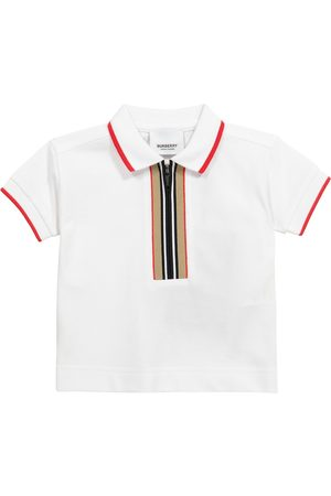 Burberry Kids Baby Icon Stripe cotton piqué polo shirt