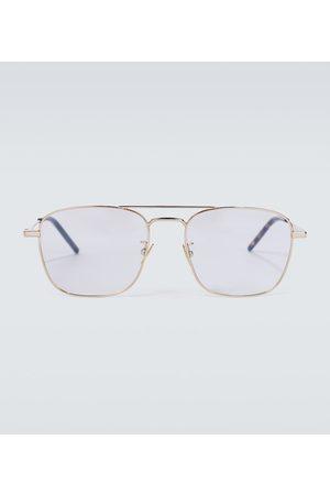 Saint Laurent Metal aviator glasses