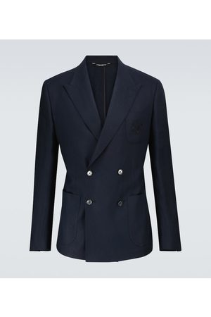 Dolce & Gabbana Double-breasted linen blazer