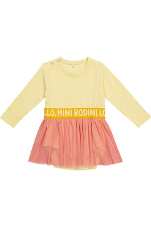 Mini Rodini Baby cotton and tulle dress