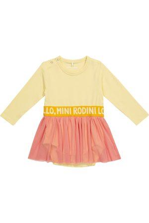 Mini Rodini Baby cotton and tulle dress