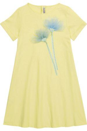 Il Gufo Dziewczynka Sukienki - Embroidered cotton jersey dress