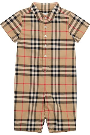 Burberry Kids Baby Vintage Check cotton onesie