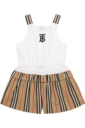 Burberry Kids Icon Stripe cotton playsuit