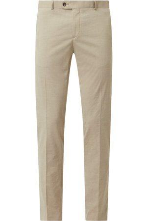 carl gross Spodnie do garnituru o kroju regular fit z dodatkiem streczu model 'Tomte'