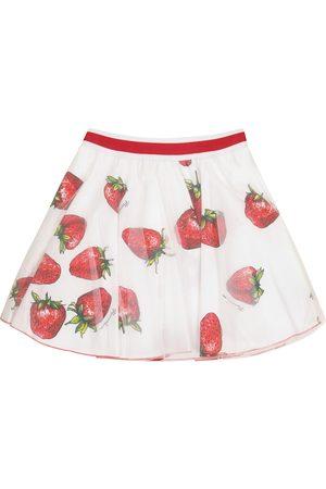 MONNALISA Dziewczynka Spódnice z nadrukiem - Printed tulle skirt