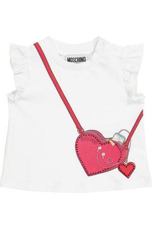 Moschino Z krótkim rękawem - Baby stretch-cotton T-shirt