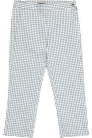 Il gufo Dziewczynka Spodnie - Checked seersucker pants