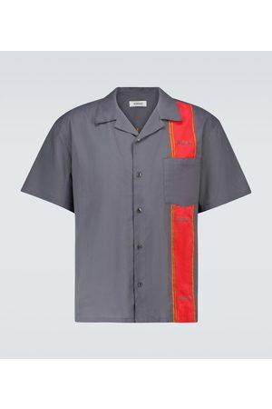 ADISH Mężczyzna Na co dzień - Woodblock short-sleeved shirt