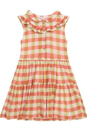 MORLEY Nelly checked stretch-cotton dress