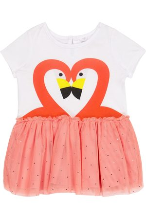 adidas Baby flamingo jersey and tulle dress