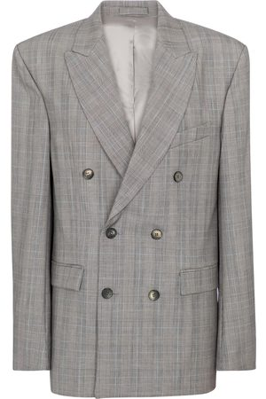 adidas Checked virgin wool blazer