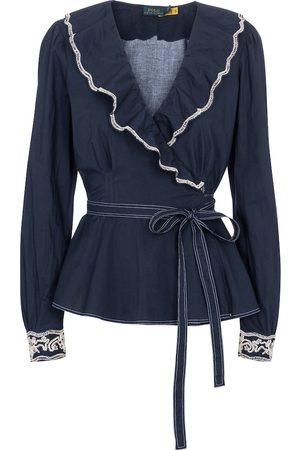 Polo Ralph Lauren Kobieta Bluzki - Cotton wrap blouse