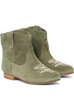 BONPOINT Texas embroidered suede boots