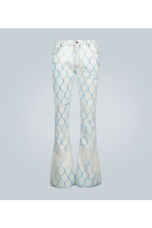 OFF-WHITE Fence stacked skinny-fit jeans