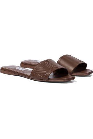 Max Mara Musa leather slides