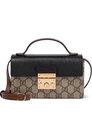 Gucci Padlock GG leather-trimmed shoulder bag