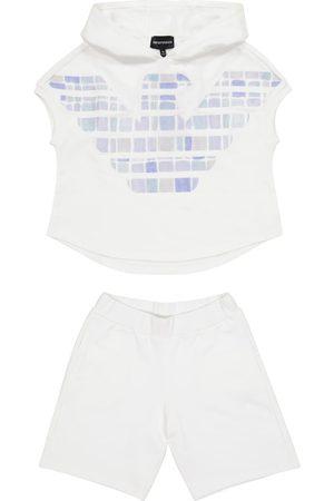 Emporio Armani Dziewczynka Bluzy - Cotton sweatshirt and shorts set