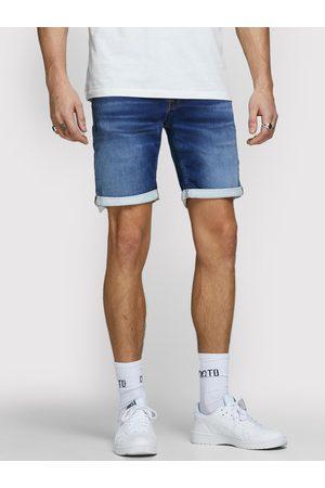 Jack & Jones Mężczyzna Straight - Szorty jeansowe Rick Icon 12166269 Granatowy Regular Fit