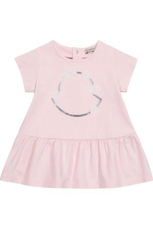 Moncler Niemowlę Sukienki - Baby logo stretch-cotton dress