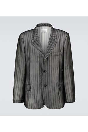 Maison Margiela Melange striped blazer