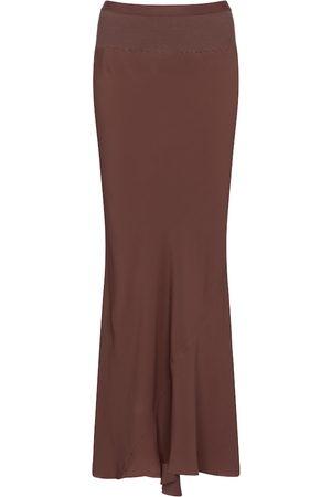 Rick Owens Kobieta Spódnice maxi - High-rise crêpe midi skirt