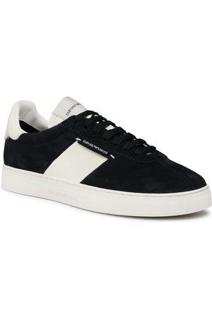 Emporio Armani Mężczyzna Buty casual - Sneakersy - X4X541 XM692 K568 Navy/Off White