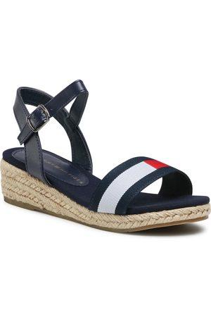 Tommy Hilfiger Espadryle - Rope Wedge Sandal T3A2-31053-0048Y004 M Blue/White/Red Y004