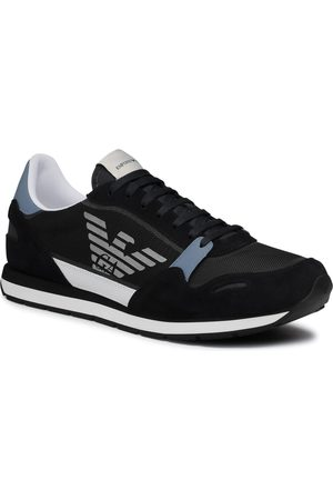 Emporio Armani Sneakersy - X4X537 XM678 Q092 Navy/Grey/Op.White/Sil