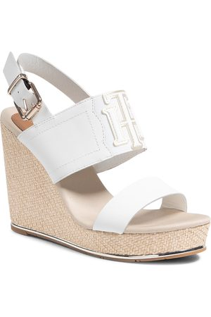 Tommy Hilfiger Espadryle - Th Elastic High Wedge Sandal FW0FW05599 Ecru YBL