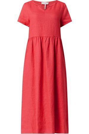 Cinque Sukienka lniana o długości midi model 'Cillina'