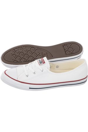 Converse Kobieta Baleriny - Trampki CT All Star Ballet Lace Slip White/Garnet/Navy 566774C (CO467-a)