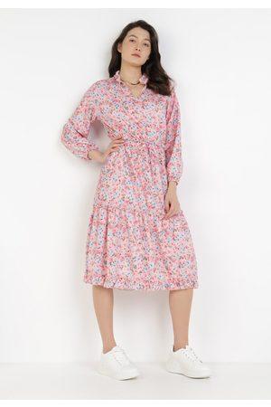 BORN2BE Różowa Sukienka Haithei