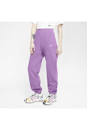 Nike Damskie spodnie z dzianiny Sportswear Essential - Fiolet