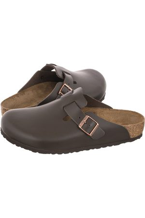 Birkenstock Mężczyzna Chodaki - Chodaki Boston BS Dark Brown 0060101 (BK80-b)
